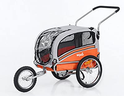 Sepnine 2 in1 pet dog bike trailer bicycle trailer and stroller jogger 20303 by Oskar-bebehut