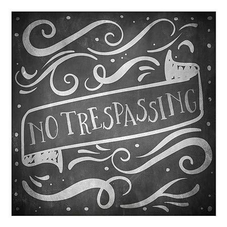 No Trespassing 30x20 5-Pack CGSignLab Basic Gray Clear Window Cling
