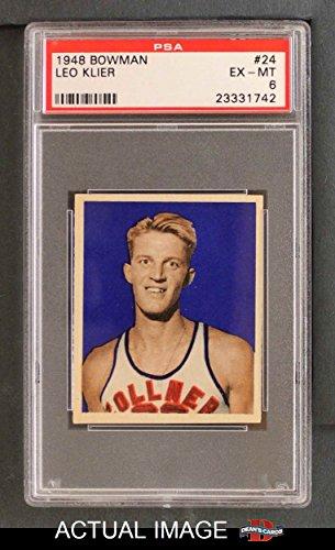 1948-Bowman-24-Leo-Klier-Detroit-Pistons-Basketball-Card-PSA-6-EXMT