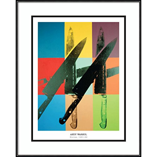 Framed Art Print 'Knives, 1981-82' by Andy Warhol: Outer Size 20 x (Andy Warhol Knives)