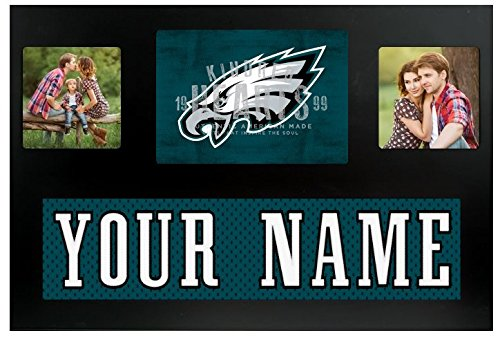 Philadelphia Eagles NFL Custom Jersey Nameplate and Logo Picture Frame ()
