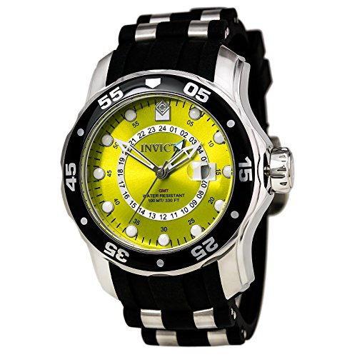 Invicta Men's 6988 Pro Diver Collection GMT Yellow Dial Sport Watch (Diver Yellow Watch)