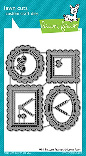 Mini Rectangle Frames - Lawn Fawn Lawn Cuts LF1623 Mini Picture Frames Metal Embossing and Cutting dies for DIY Card Making, Crafts and Scrapbooking | Paper and Cardstock Die Cuts Supplies