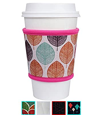 MOXIE Cup Sleeves - Premium Reusable Neoprene Sleeve for Coffee & Tea - One size fits all