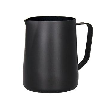 Sipliv 20 oz (600 ml) de acero inoxidable espresso jarras humeantes leche espuma jarra crema macchiato capuchino latte art making jarra tazas espuma ...