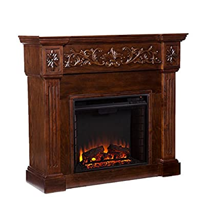 Wellington Espresso Electric Fireplace by Harper Blvd