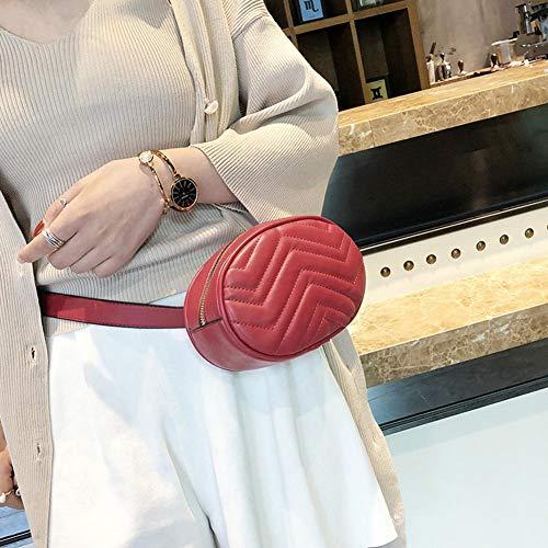 Poitrine Dames Tout Pu Pour Rouge Sac Unie Couleur Lijumn Rond Taille apparié De Mini Mode Personnalité w180t