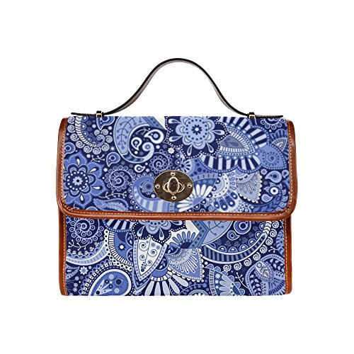 Bohemian Floral Hippie Waterproof Canvas Tote Crossbody Bag Shoulder Messenger Bags