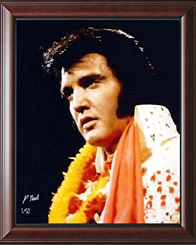 Hand Signed Painting (Elvis Presley Framed Oil Painting by Peter Nowell Limited Edition Print Collectible Wall Art - Hand Signed and Numbered)