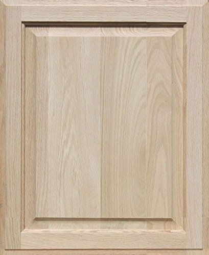 Flat Panel Cabinet Doors (Unfinished Oak Cabinet Door, Square with Raised Panel by Kendor 22H x 18W)