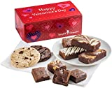 Fairytale Brownies Valentine Treat Combo Gourmet Chocolate Food Gift Basket - Assorted Size Brownies and 3.25 Inch Cookies - 10 Pieces - Item FV341