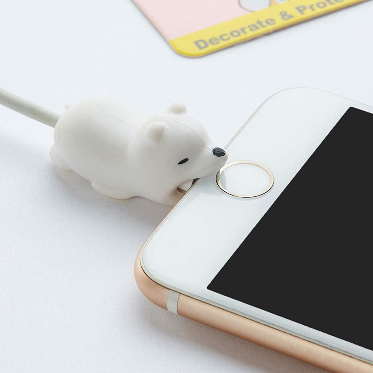 6 St/ück s/ü/ße Tierbiss-Kabelschutz verhindert Bruch Kabelschnur f/ür Ihr Handy Kauerkabel verschiedene Tierkabel