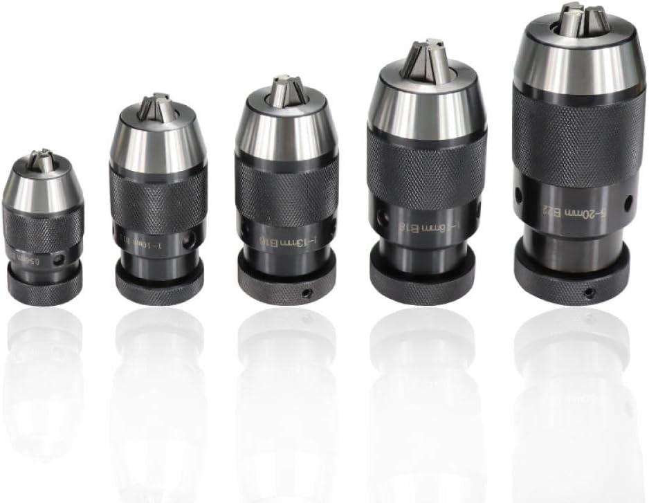 Keyless Drill Chuck B10(0.5-6mm) B12(1-10mm) B16(1-13mm) B18(1-16mm) B22(5-20mm) Drill Chuck Self Tighten Automatic Locking-B10-(0.5-6mm) B12-(1-10mm)