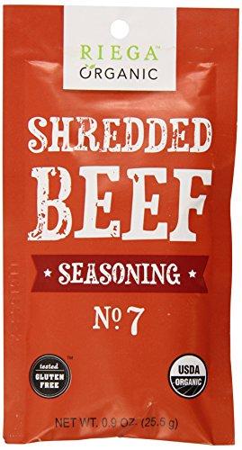 (Riega Organic Shredded Beef Seasoning (Pack of 8))