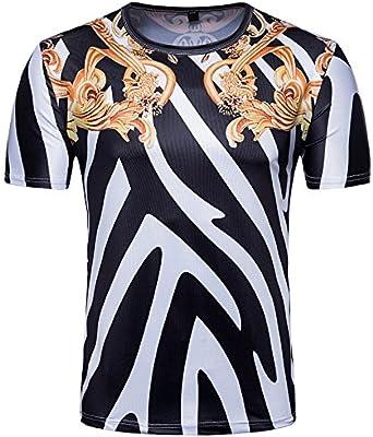 Hagyh Camiseta con Estampado De Cebra, European and American Wind, Royal Zebra Print Camiseta, Picture Color, L: Amazon.es: Ropa y accesorios