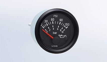 Bracket 2//52mm w//Harness VDO Gauge Oil Pressure Genuine Cockpit 350-911 150 psi