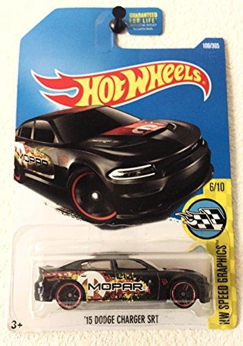 Hot Wheels 2017 HW Speed Graphics '15 Dodge Charger SRT 106/365, Black