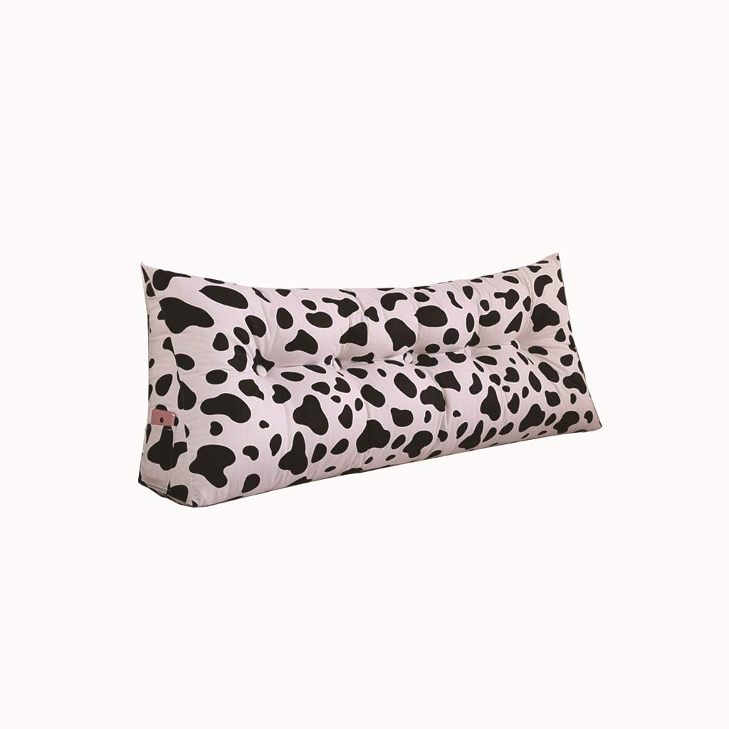 クッションダブルヘッドソフトバッグトライアングルクッションウエストベルトソファ腰椎枕取り外し可能と洗える (色 : 白, サイズ さいず : 180*50*20cm) 180*50*20cm 白 B01KJYGIVG