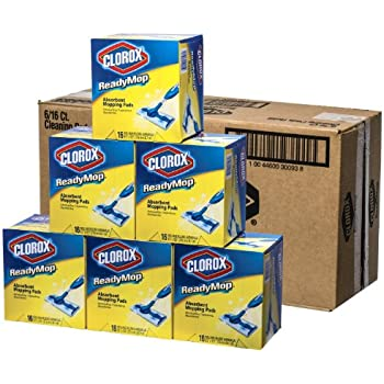 Amazon Com Clorox Ready Mop Pads 16 Refill Pads 8 Pack