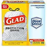 Glad Tall Kitchen Drawstring Trash Bag - 13 Gallon - 90 Count (Packaging may Vary)
