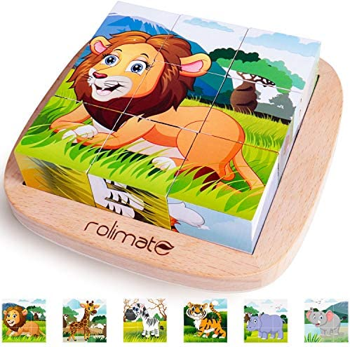 rolimate Educational Preschool Wooden Jigsaw product image