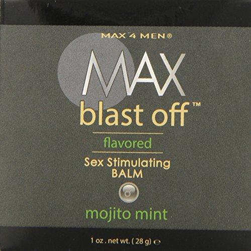 Classique Erotica Max 4 hommes Max Blast Off aromatisés Sexe Stimulant Baume Mojito Mint, 1 once liquide