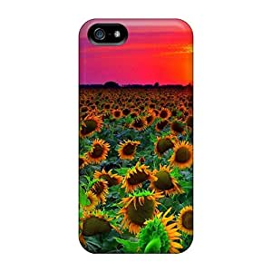 New Fashion Premium Tpu Case Cover For Iphone 5/5s - Sunflowers Sunset