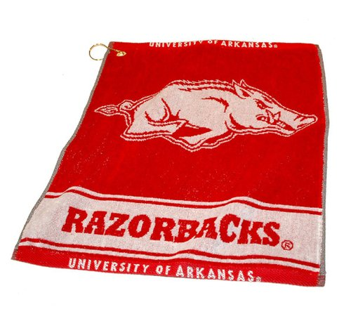 Team Golf NCAA Arkansas Razorbacks Jacquard Woven Golf Towel, 16