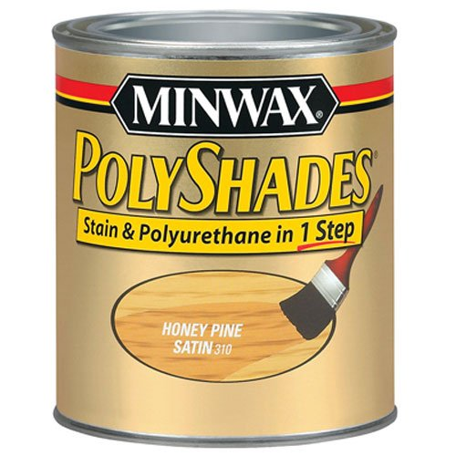 (Minwax 61310444 PolyShades - Stain & Polyurethane in 1 Step, quart, Honey Pine, Satin)