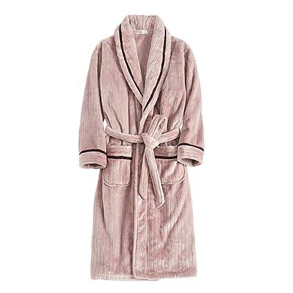 MERRYHE Albornoz De Franela para Mujer Batas De Baño con Albornoz Comforts Albornoz De Kimono Rosa