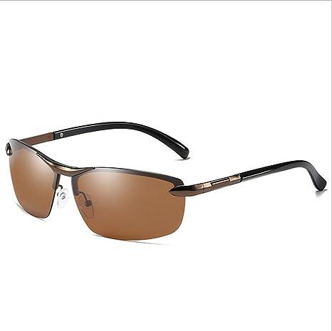 Gafas De Sol Polarizadas Para Hombres Aluminio Magnesio Metal Half Frame Decoloration Gafas De Sol Ladies