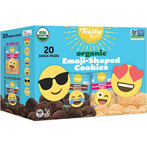 Organic Emoji-Shaped Cookies, Family Pack