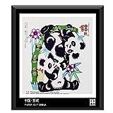 Paper Cutting Paper Cut Chinese Folk Arts Handcrafts Small Gifts Souvenirs (Panda)