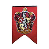 CH1 Red Yellow Gryffindor House Banner, Crimson Gold Harry Potter Flag Hogwarts Lion Fantasy Wizard College Party Home Decor Book Novelty Movie, Polyester
