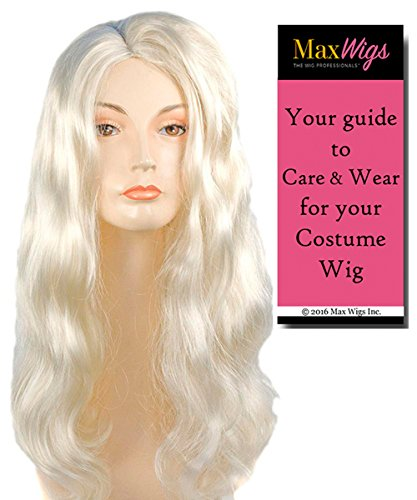 Bundle 2 items: Discount Veronica One Length Pageboy Ladies Wavy Thick Women's Cosplay Lacey Wigs - Color Strawberry Blonde, MaxWigs Costume Wig Care Guide (Morris Dancers Costumes)