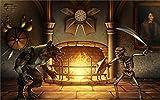 Tomorrow sunny 24X36 INCH / ART SILK POSTER / Dark Killer_Instinct_Sword_Skeleton_Werewolf_Fireplace_dark_battle_fire_weapons