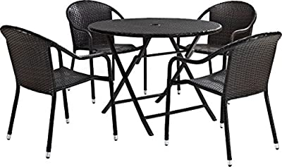 Crosley 5-Piece Palm Harbor Cafe Dining Set