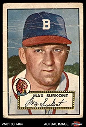 1952 Topps 302 Max Surkont Boston Braves Baseball Card Deans Cards AUTHENTIC