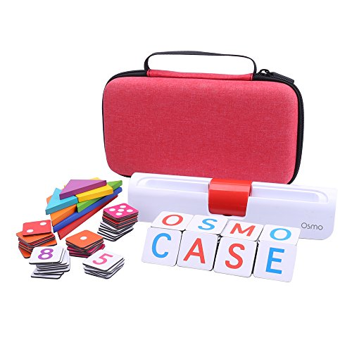 Aenllosi Storage Organizer Case for Osmo Genius Kit, fits OSMO Base/Starter/Numbers/Words/Tangram/Coding Awbie Game (for OSMO Genius Set, Red) by Aenllosi (Image #5)