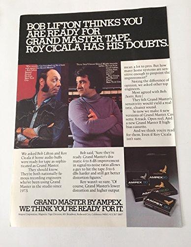1979 Ampex Tape Bob Lifton & Roy Cicala Magazine Print Advertisement