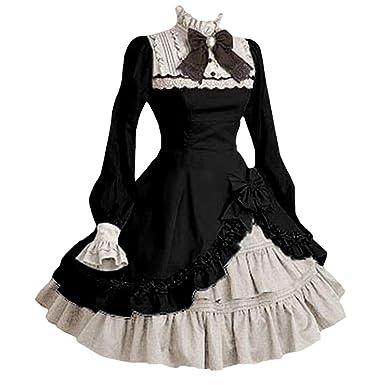 Mujer Lolita Vestido Gótico Steampunk Halloween Criada ...