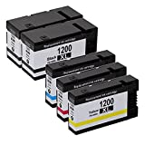 YDINK 5 Pack ( 2BK 1C 1M 1Y ) Compatible Ink Cartridge for PGI-1200XL PGI 1200 XL fit Canon MAXIFY MB2020 MB2320 Series Printer