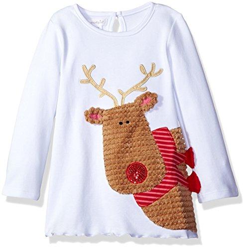 Mud Pie Girls' Toddler Girls' Tunic Playwear, White, 4T/5T