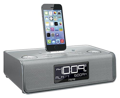 iHome iDL43S Dual Charging Stereo FM Clock Radio with Lightn