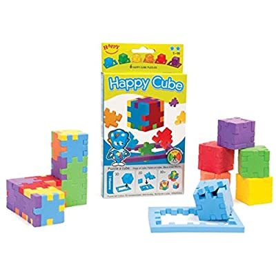 Happy, Happy Cube, Set of 6 Foam Puzzle Cubes, Ages 5 to 99: Toys & Games
