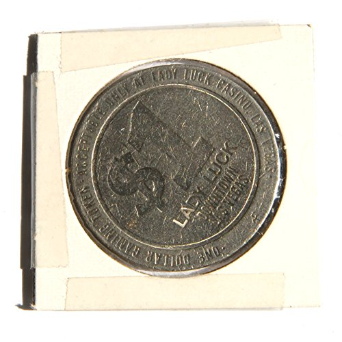 """1986 One Dollar""""Lady Luck Casino"""" Gambling Token Coin, Downtown Las Vegas, Nevada - 1964-2006 (Obsolete Design) 1 Used"""