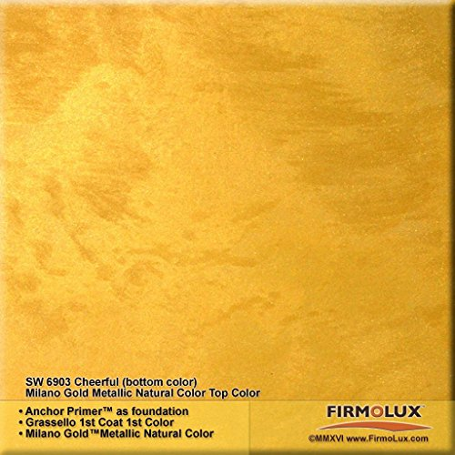 Milano Gold Metallic (Fine) Authentic Venetian Metallic Plaster from Italy. The ultimate in luxury finishes. by FirmoLux (Image #1)