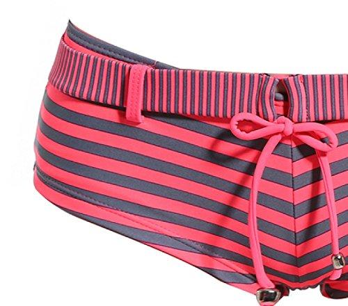 KUWOMINI.Fashion Celosía Bikini Pequeño ángulo Trajes De Baño Se Reúnen Casa Femenina Pecho Pequeño Era Delgada Auto-cultivo Aguas Termales De Trajes De Baño DarkBlue