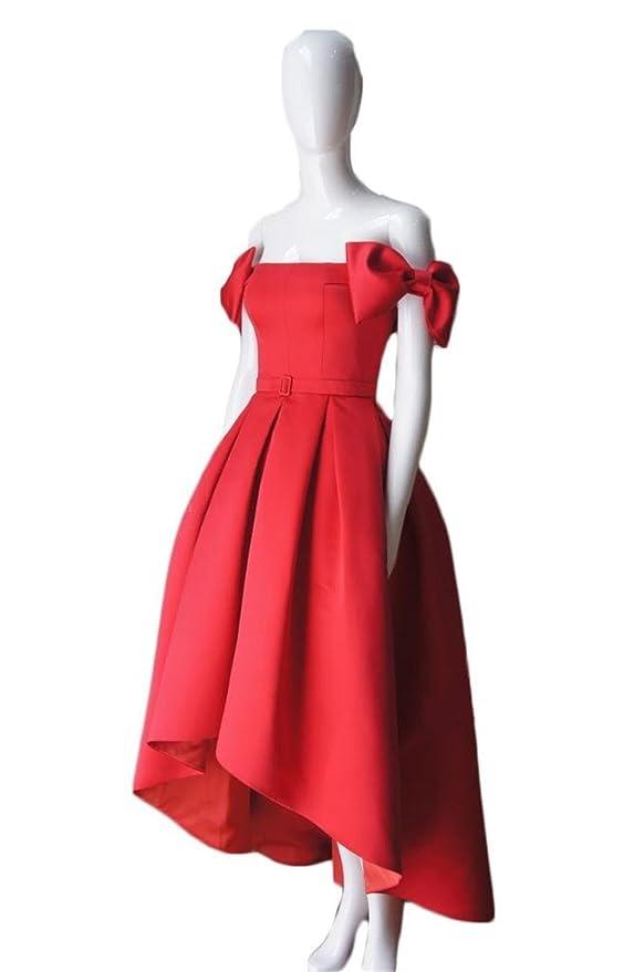 Amazon.com: Dydsz Womens Off Shoulder Bows Long Evening Prom Dresses Party Plus Size 2017 D109: Clothing