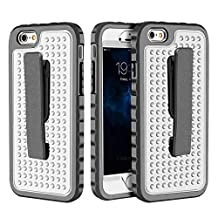 iPhone 6 Plus Case, iPhone 6s Plus Case Belt Clip Case, Asstar Ultra Thin Shock Reduction Sure Grip Rugged Armor Protective Cover with Locking Belt Clip for iPhone 6 Plus / 6s Plus (Silver)